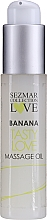 "Parfumuri și produse cosmetice Ulei pentru masaj ""Banană"" - Sezmar Collection Love Banana Tasty Love Massage Oil (mini)"