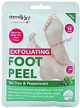 Parfumuri și produse cosmetice Șosete exfoliante pentru picioare - Derma V10 Foot Peel Sock Mask Tea Tree & Peppermint
