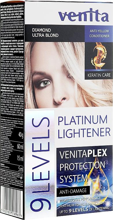 Vopsea-decolorare până la 9 tonuri - Venita Plex Platinum Lightener