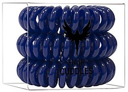 Parfumuri și produse cosmetice Elastice de păr, albastru închis - HH Simonsen Hair Cuddles Dark Blue