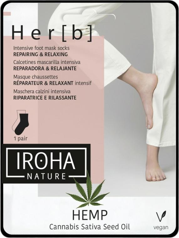 Mască pentru picioare - Iroha Nature HEMP Cannabis Foot Mask — Imagine N1