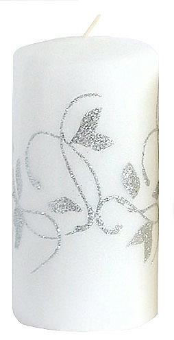 Lumânare decorativă, albă, 7x14 cm - Artman Amelia — Imagine N1