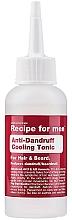 Parfumuri și produse cosmetice Tonic antimătreață - Recipe For Men Anti-Dandruff Cooling Tonic