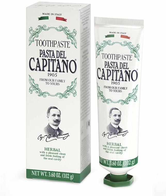 Pastă cu extracte din plante pentru dinți - Pasta Del Capitano 1905 Natural Herbs Toothpaste — Imagine N1