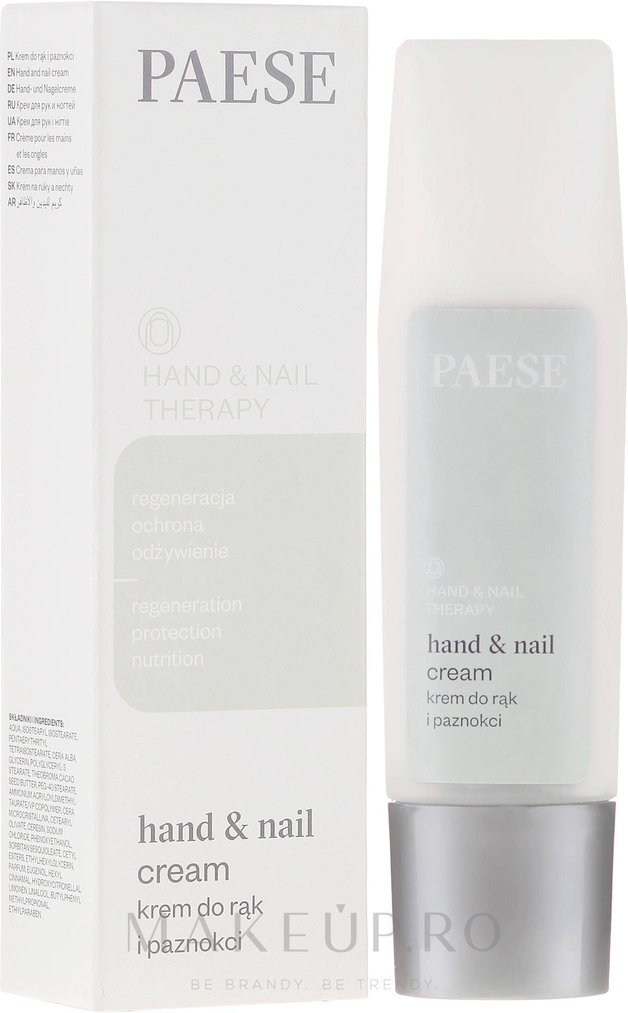 Cremă pentru mâini și unghii - Paese Hand & Nail Therapy Cream — Imagine 40 ml