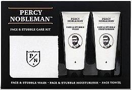 Parfumuri și produse cosmetice Set - Percy Nobleman Face & Stubble Care Kit (f/cr/75ml + f/cl/75ml + towel)