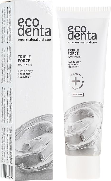 Pastă de dinți cu efect triplu cu argilă albă, extract de propolis - Ecodenta Extra Toothpaste