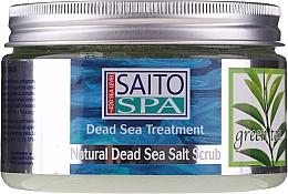 """Parfumuri și produse cosmetice Scrub de sare pentru corp """"Ceai verde"""" - Saito Spa Aalt Body Scrub Green tea"""