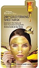 Parfumuri și produse cosmetice Mască pe bază de aur pentru față - 7th Heaven Renew You 24K Gold Firming Sheet Mask