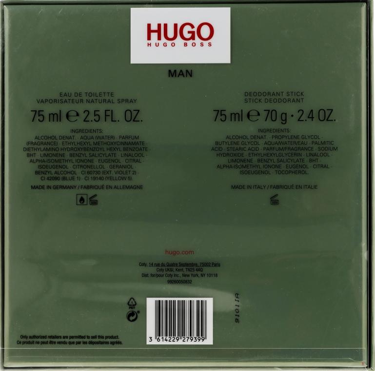 Hugo Boss Hugo Men - Set (edt/75ml + deo/75ml) — Imagine N3