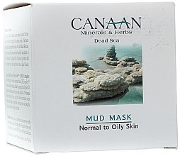 Parfumuri și produse cosmetice Balsam pentru gât și decolteu - Canaan Minerals & Herbs Mud Mask Normal to Oily Skin
