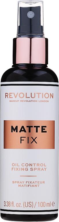 Fixator de machiaj - Makeup Revolution Matte Fix Oil Control Fixing Spray
