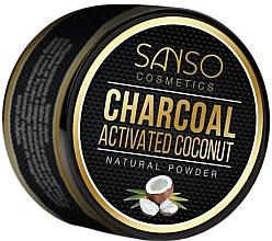 Parfumuri și produse cosmetice Praf cu efect de albire pentru dinți - Sanso Cosmetics Charcoal Activated Coconut Natural Powder
