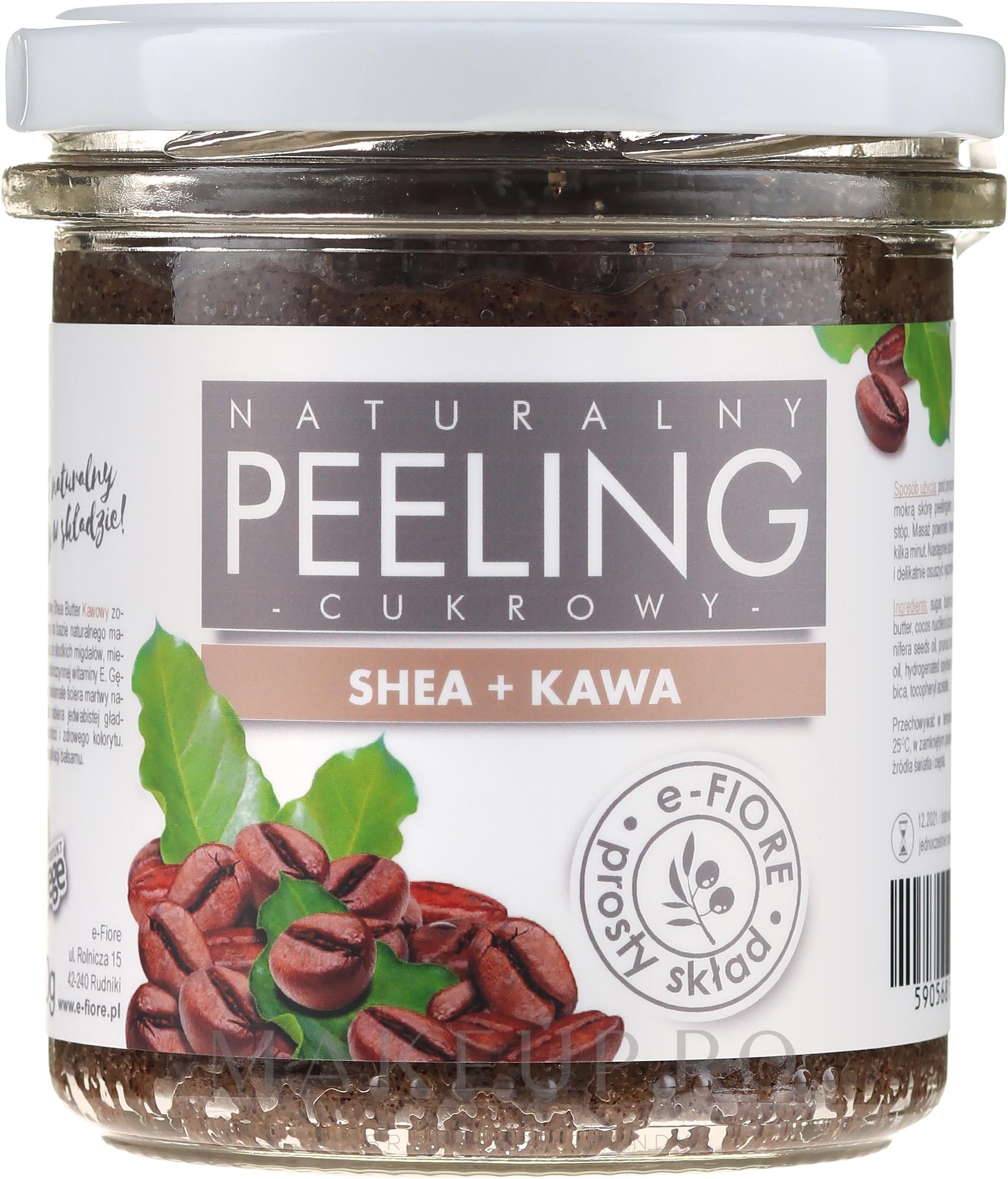 Peeling cu cafea pentru corp - E-Fiore Coffee Body Peeling — Imagine 300 ml