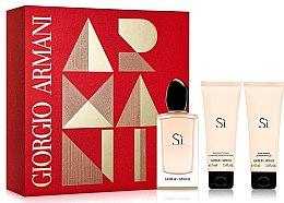 Parfumuri și produse cosmetice Giorgio Armani Si - Set (edp 100ml + b/l 75ml + sh/g 75ml)