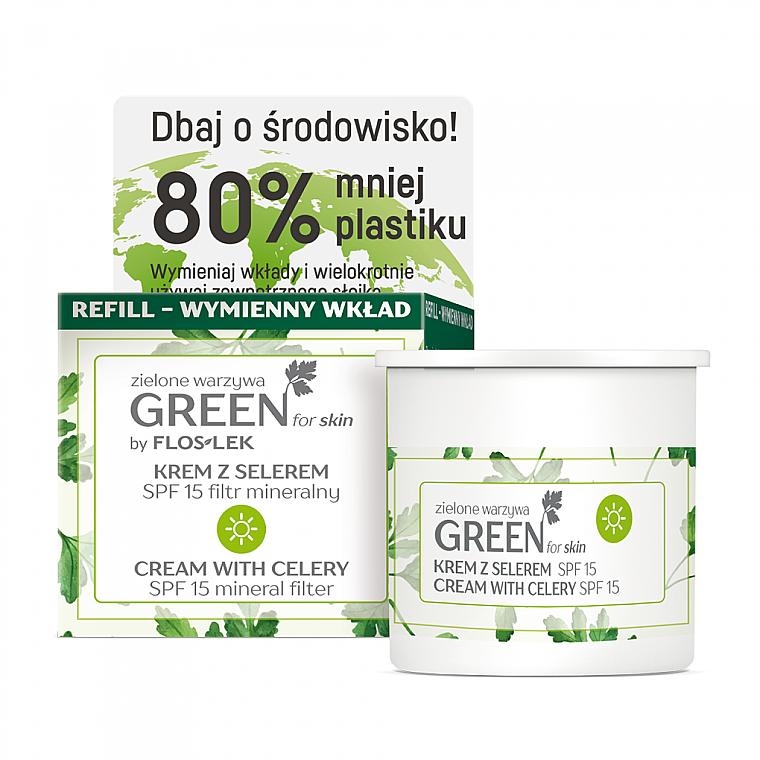 Cremă cu țelină de zi pentru față SPF 15 - Floslek Green For Skin Day Cream Refill — Imagine N1