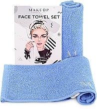 """Parfumuri și produse cosmetice Set de prosoape de față, pentru călătorii, albastre """"MakeTravel"""" - Makeup Face Towel Set"""