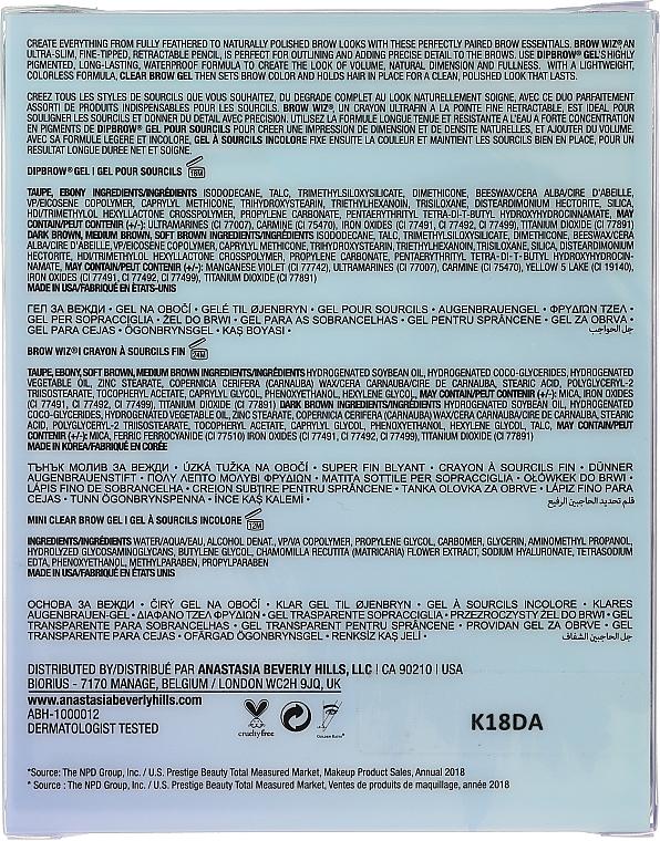 Set - Anastasia Beverly Hills Best Brows Ever Medium Brown (pencil/0.08g + gel/2.5ml + gel/2.2g) — Imagine N2
