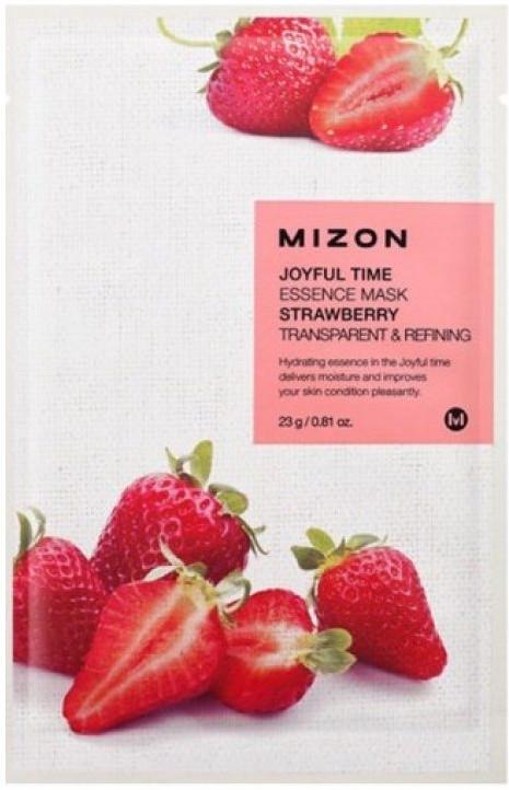 Mască de țesut cu extract de căpșună - Mizon Joyful Time Essence Mask Strawberry — Imagine N1