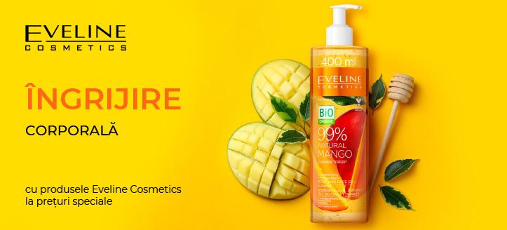 Reducere 5% la produsele promoționale Eveline Cosmetics. Prețurile de pe site sunt indicate cu reduceri