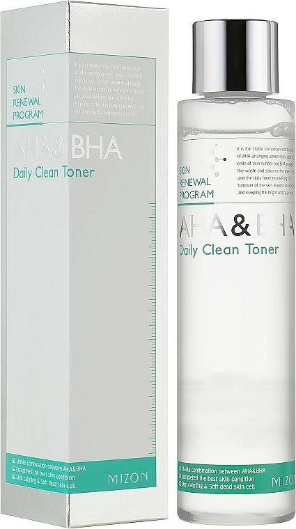 Tonic pentru față - Mizon AHA & BHA Daily Clean Toner — Imagine N1