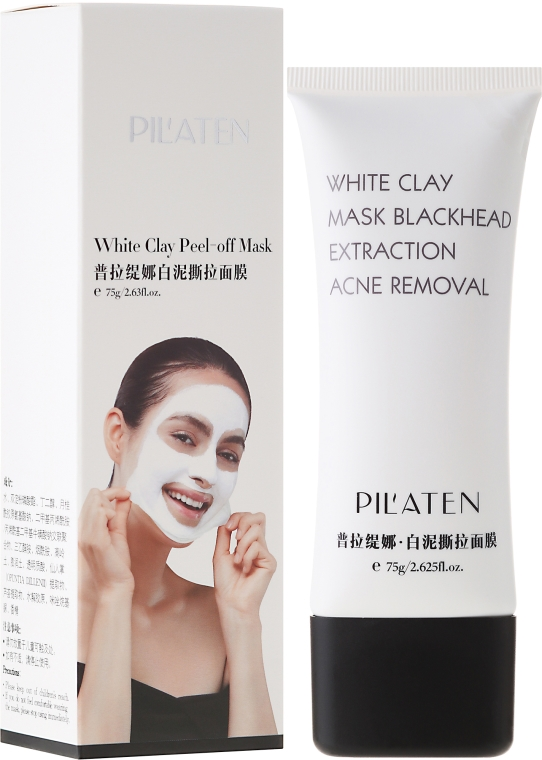 "Mască de față ""Argilă albă"" - Pil'Aten White Clay Mask Blackhead Extraction Acne Removal"
