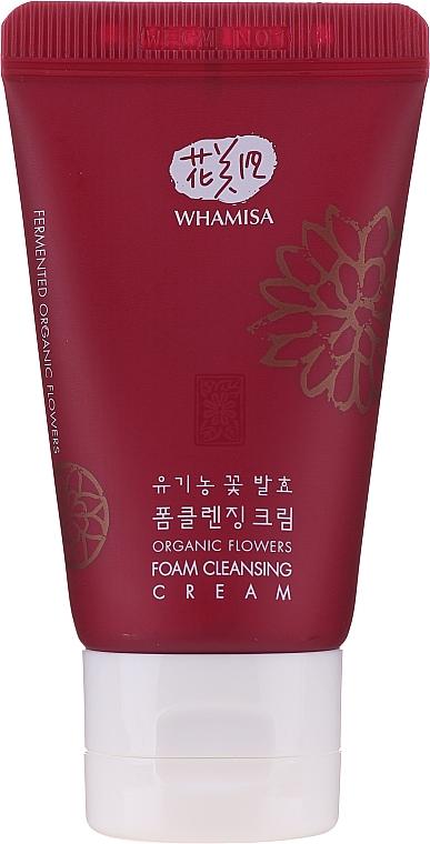 Cremă de curățare cu enzime florale - Whamisa Organic Flowers Foam Cleansing Cream (mini) — Imagine N1