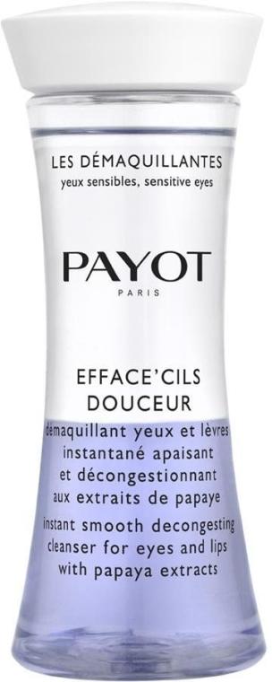 Demachiant cu extract de papaya pentru ochi și buze - Payot Les Demaquillantes Efface Cils Douceur Instant Smooth Decongesting Cleanser