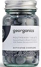 """Parfumuri și produse cosmetice Tablete de clătire pentru cavitatea bucală """"Carbon activat"""" - Georganics Mouthwash Tablets Activated Charcoal"""