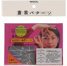 Parfumuri și produse cosmetice Șabloane pentru sprâncene, mărime C1, C2, C3, C4 - Magical Eyebrow Style