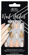 Set unghii false - Ardell Nail Addict Premium Artifical Nail Set Pink Marble & Gold — Imagine N1