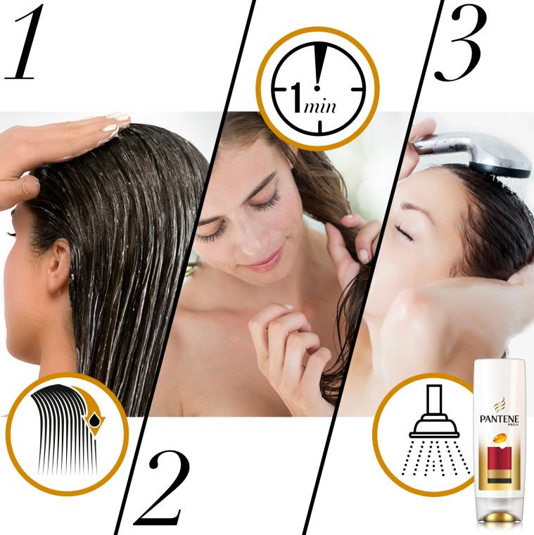 "Balsam de păr Condiționant ""Protecția culorii și strălucirii"" - Pantene Pro-V Lively Color Conditioner — Imagine N3"