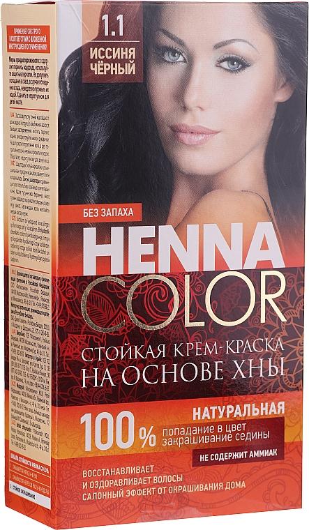 Cremă-vopsea rezistentă pentru păr, cu henna - FitoKosmetik Henna Color