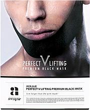 Parfumuri și produse cosmetice Mască facială cu efect de lifting - Avajar Perfect V Lifting Premium Black Mask