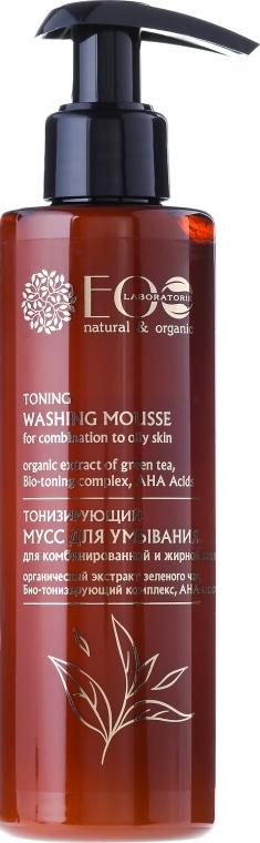 Spumă tonică cu AHA-acizi pentru curățare - ECO Laboratorie Toning Washing Mousse
