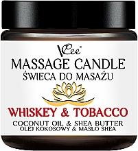 "Parfumuri și produse cosmetice Lumânare pentru masaj ""Whiskey & Tobacco"" - VCee Massage Candle Whiskey & Tobacco Coconut Oil & Shea Butter"