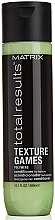 Parfumuri și produse cosmetice Balsam cu polimeri pentru păr - Matrix Total Results Texture Games Conditioner
