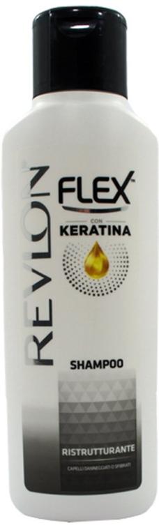 Șampon regenerant pentru păr - Revlon Flex Keratina Ristrutturante Shampoo  — Imagine N1