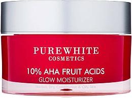 Parfumuri și produse cosmetice Cremă hidratantă de față - Pure White Cosmetics 10% AHA Fruit Acids Glow Moisturizer