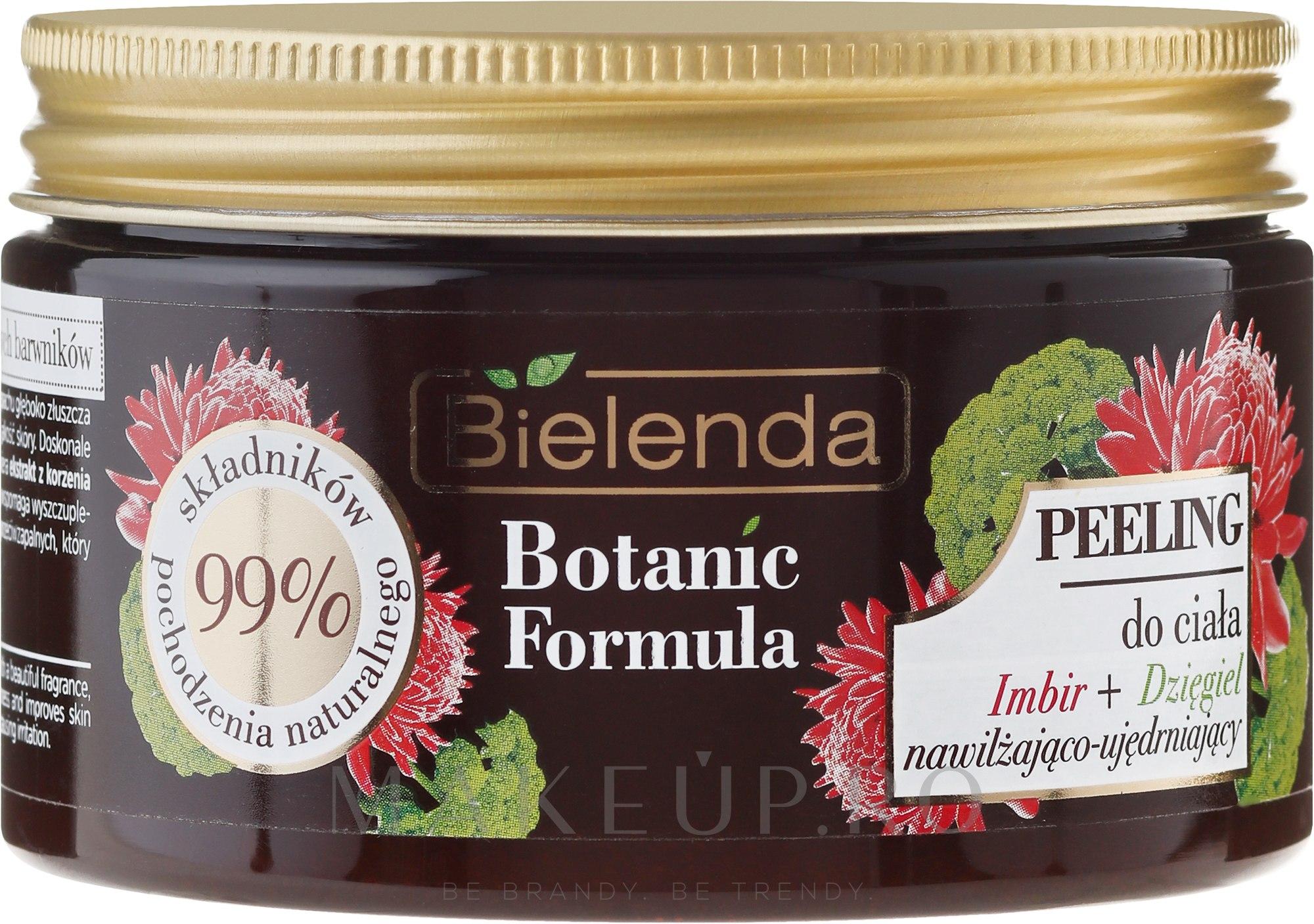 "Scrub pentru corp ""Ghimbir și Angelika"" - Bielenda Botanic Formula Ginger + Angelica Body Scrub — Imagine 350 g"