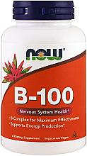 Parfumuri și produse cosmetice Vitamina B-100 - Now Foods Vitamin B-100 Veg Capsules