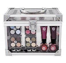 Parfumuri și produse cosmetice Trusă de machiaj - Makeup Trading Crystal Beauty Train Case Transparent