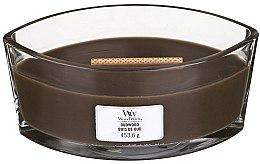 Parfumuri și produse cosmetice Lumânare aromată în suport de sticlă - Woodwick Hearthwick Flame Ellipse Candle Oudwood