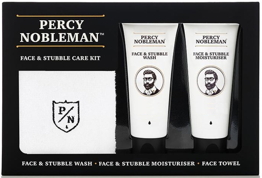 Set - Percy Nobleman Face & Stubble Care Kit (f/cr/75ml + f/cl/75ml + towel) — Imagine N1