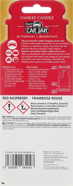 Aromatizator auto - Yankee Candle Car Jar Red Raspberry — Imagine N2