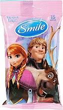"""Parfumuri și produse cosmetice Șervețele umede """"Frozen"""", 15 bucăți, Anna și Kristoff - Smile Ukraine Disney"""