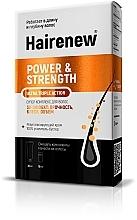 """Parfumuri și produse cosmetice Complex inovator pentru păr """"Efect 3D: rezistență, strălucire, volum"""" - Hairenew Power & Strength Ultra Triple Action"""