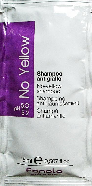 Șampon pentru neutralizarea tonului galben - Fanola No-Yellow Shampoo (mostră) — Imagine N1