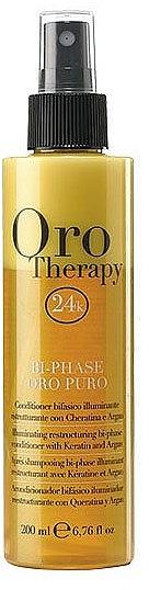 Balsam- spray regenerant cu cheratină pentru păr, bifazic - Fanola Oro Therapy