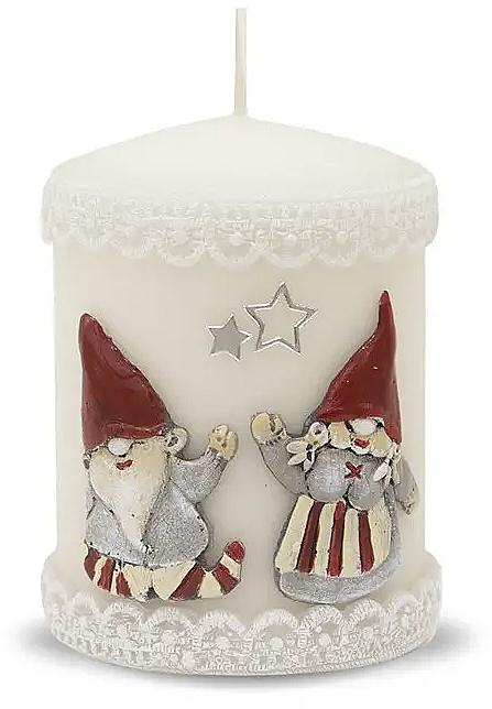 Lumânare decorativă, albă, 7x10 cm - Artman Dwarves — Imagine N1